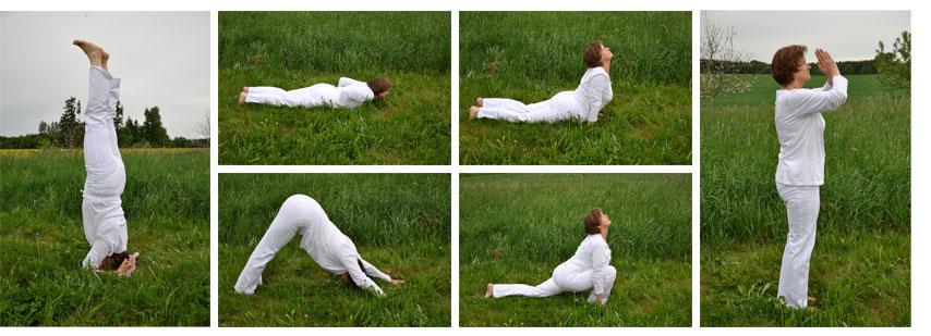 Yoga-Stellungen